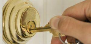 key going into lock