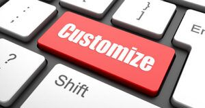 customize button